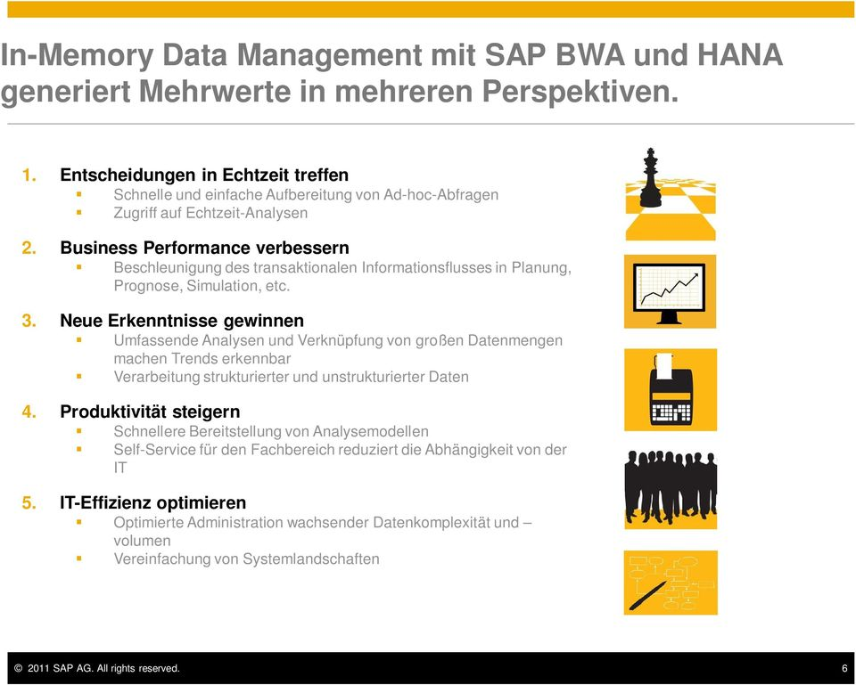 Business Performance verbessern Beschleunigung des transaktionalen Informationsflusses in Planung, Prognose, Simulation, etc. 3.