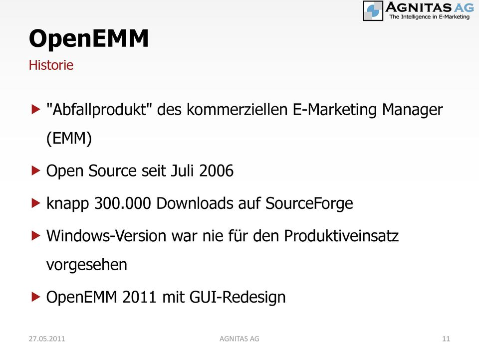 000 Downloads auf SourceForge Windows-Version war nie für den