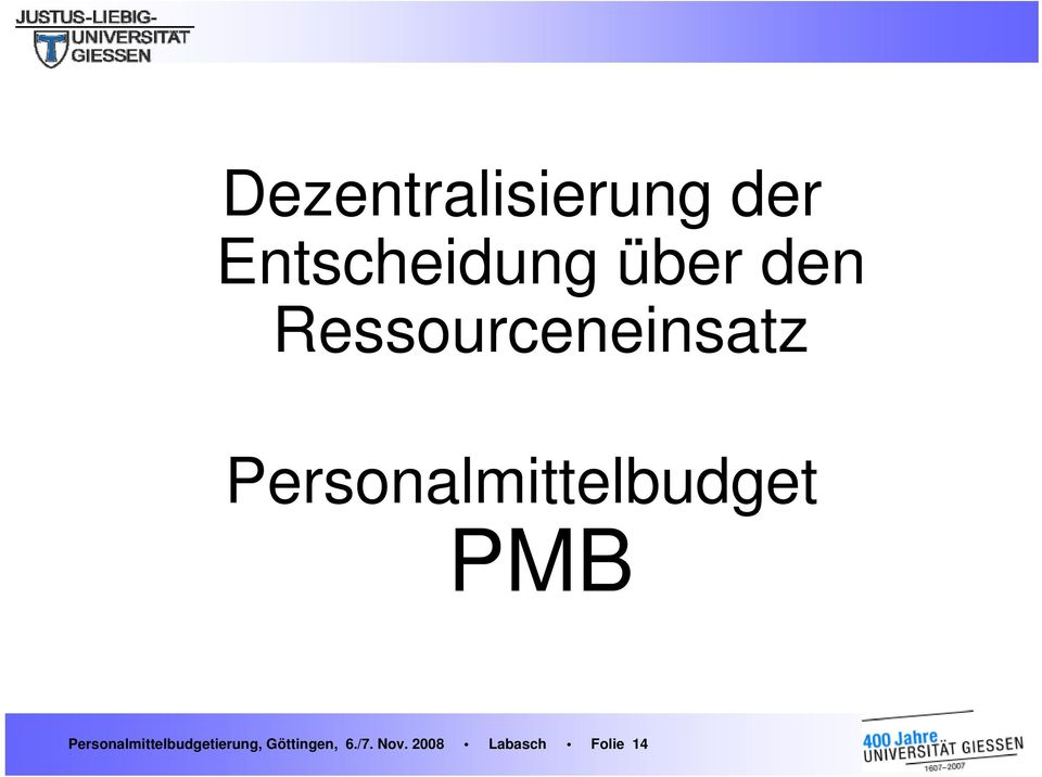 Personalmittelbudget PMB