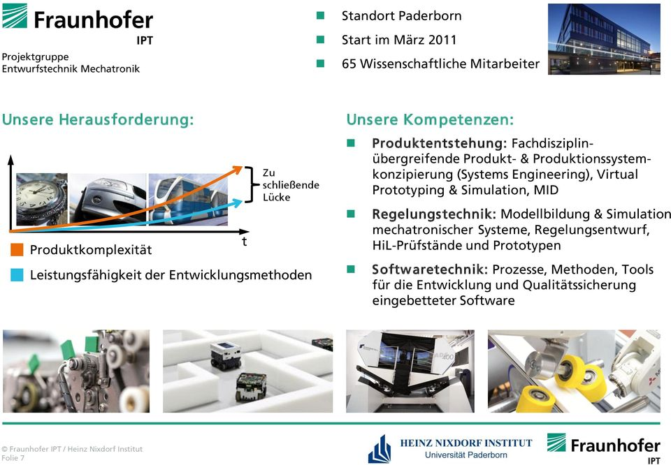 Produktionssystemkonzipierung (Systems Engineering), Virtual Prototyping & Simulation, MID Regelungs technik: Modellbildung & Simulation