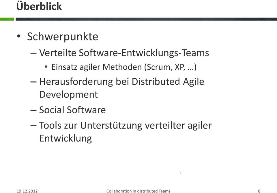 Distributed Agile Development Social Software Tools zur