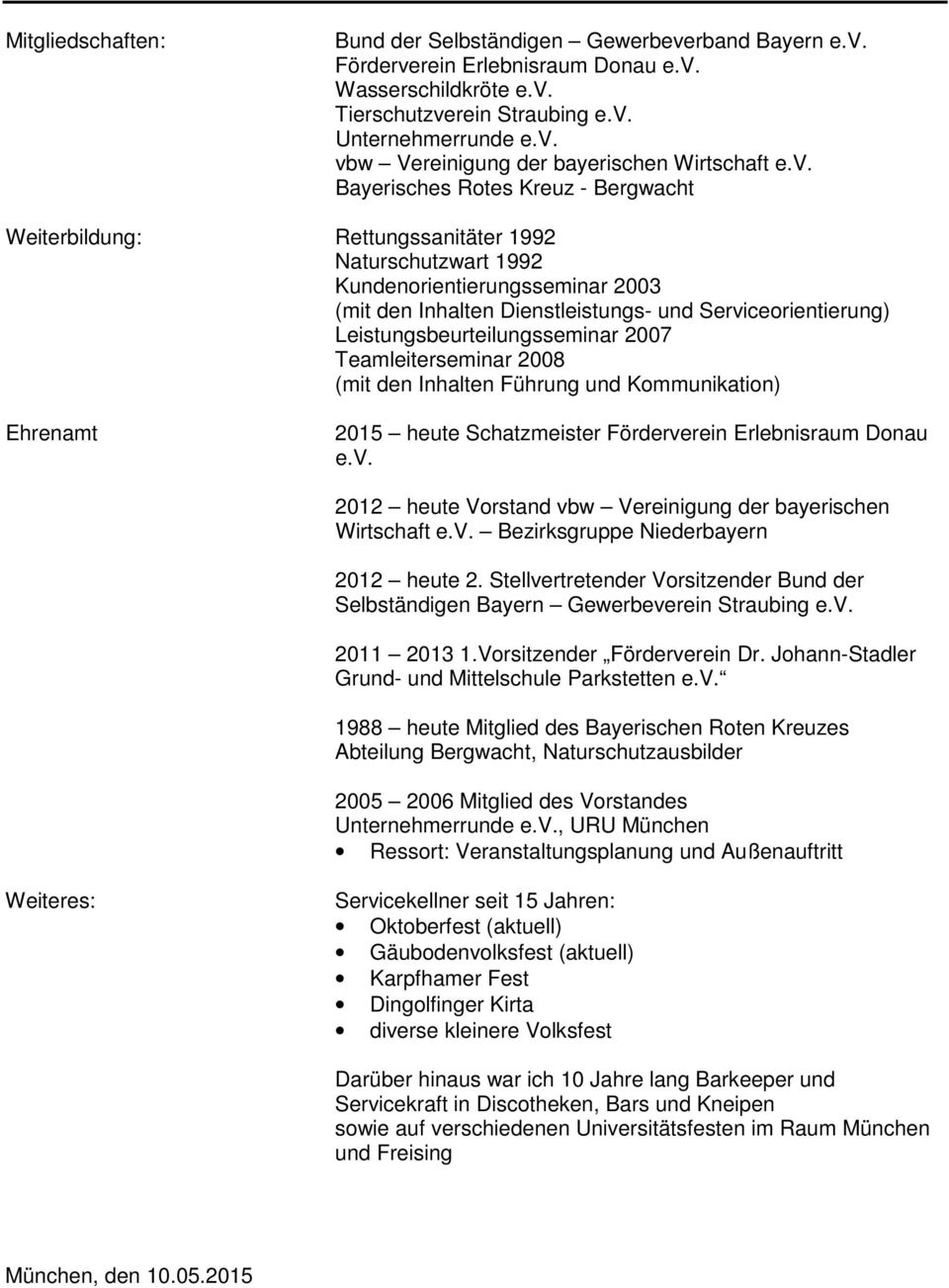 Tolle Barkeeper Lebenslauf Ideen - Entry Level Resume Vorlagen ...