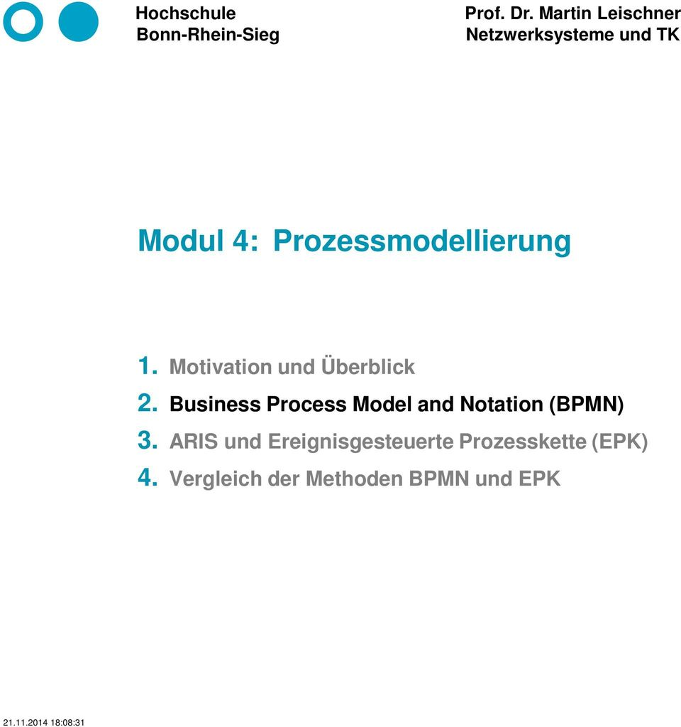 Business Process Model and Notation (BPMN) 3.