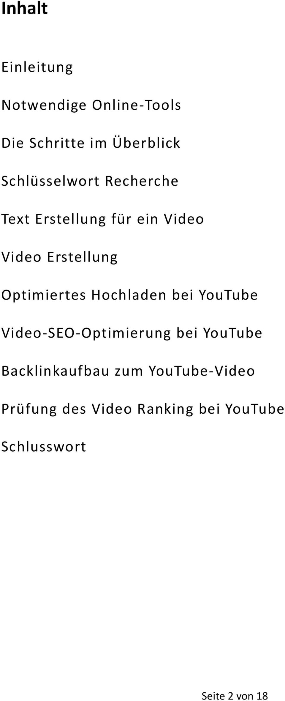 Optimiertes Hochladen bei YouTube Video-SEO-Optimierung bei YouTube