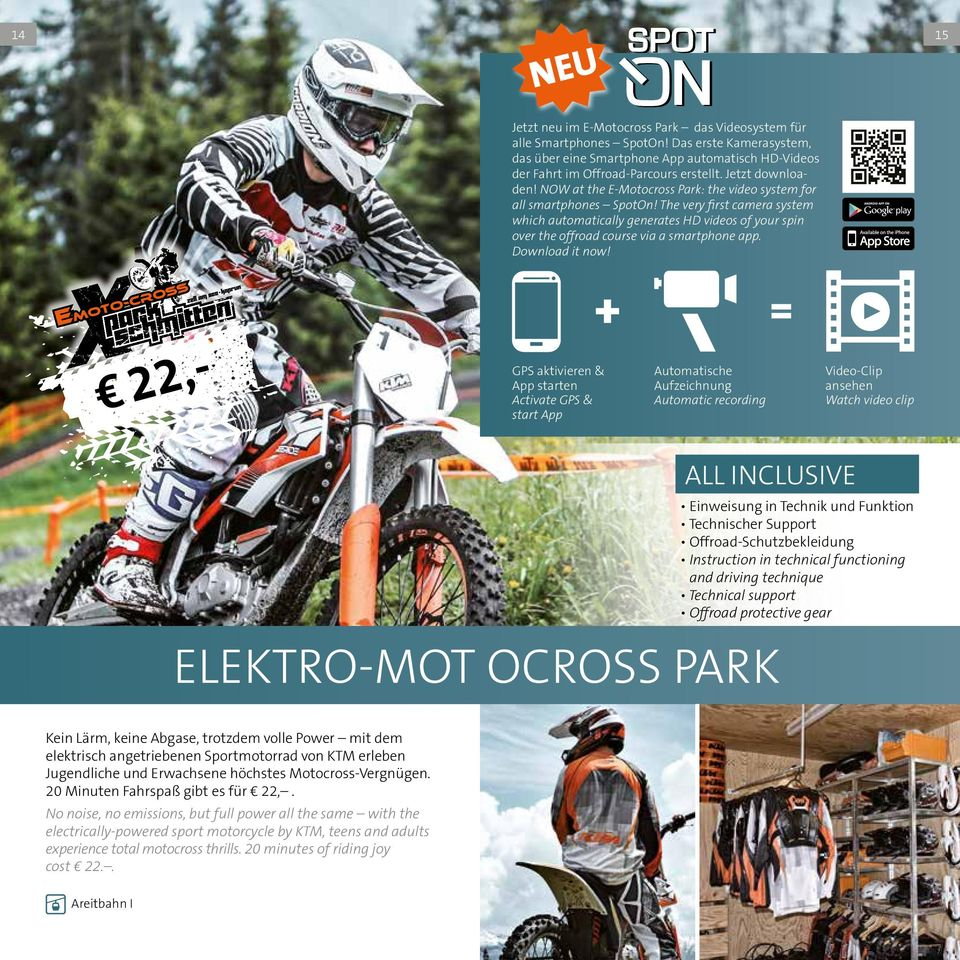 The very first camera system which automatically generates D videos of your spin over the offroad course via a smartphone app. Download it now!