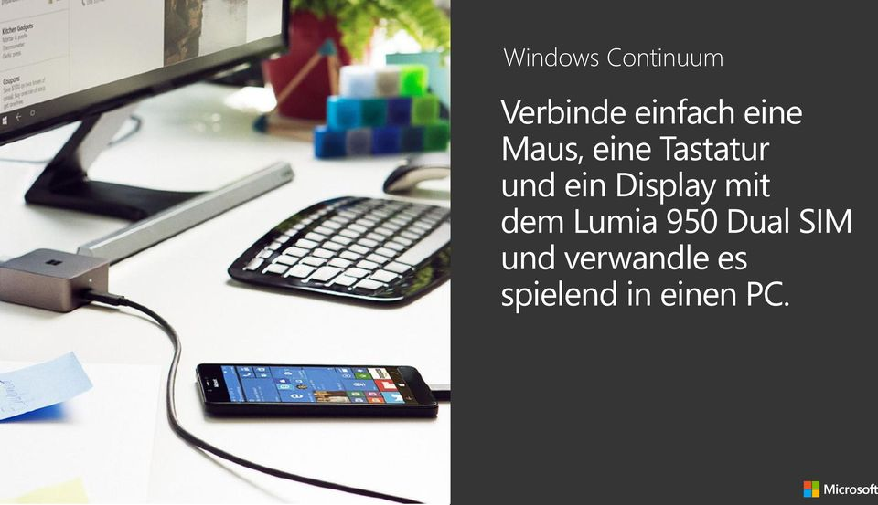 Display mit dem Lumia 950 Dual SIM