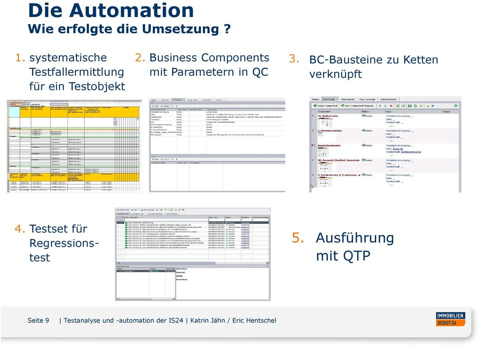 Business Components mit Parametern in QC 3.