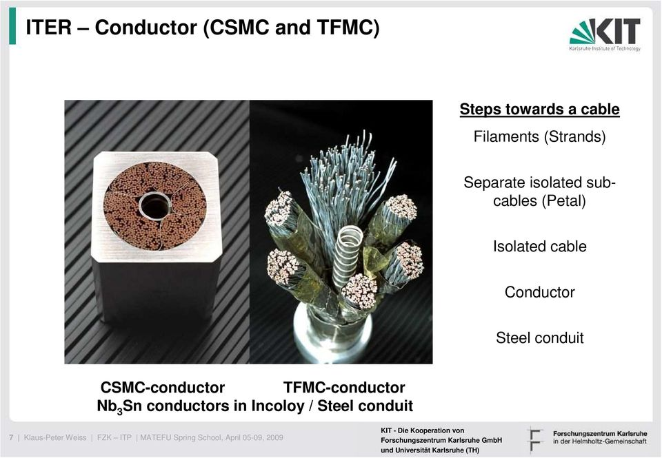 conduit CSMC-conductor TFMC-conductor Nb 3 Sn conductors in Incoloy /