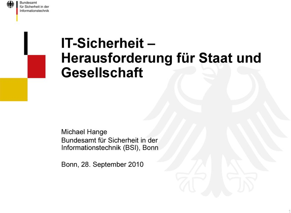 Sicherheit in der Informationstechnik (BSI),