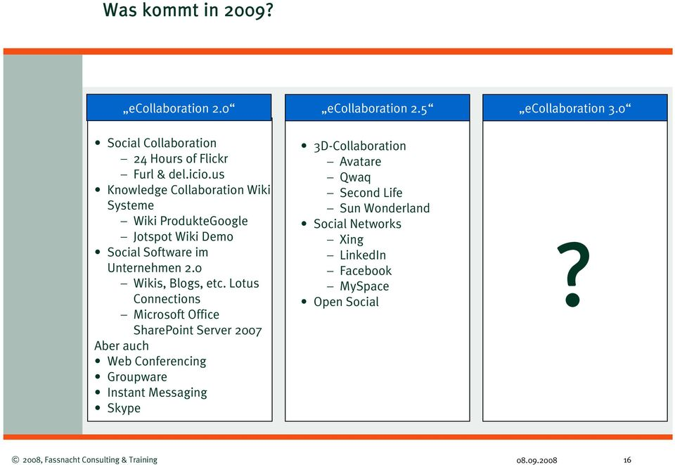 us Knowledge Collaboration Wiki Systeme Wiki ProdukteGoogle Jotspot Wiki Demo Social Software im Unternehmen 2.
