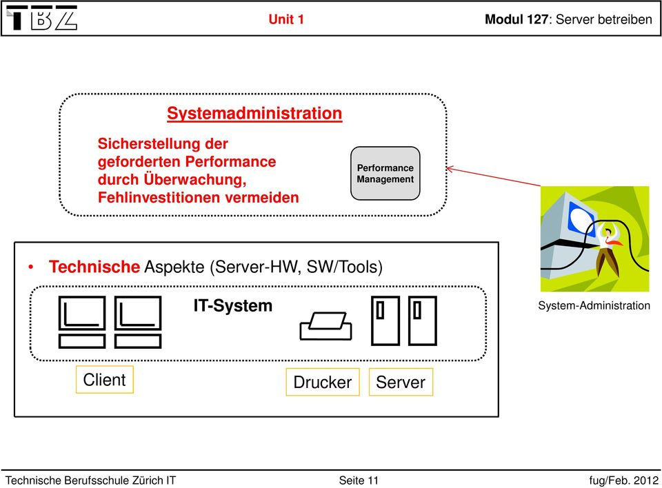 Performance Technische Aspekte (Server-HW, SW/Tools)