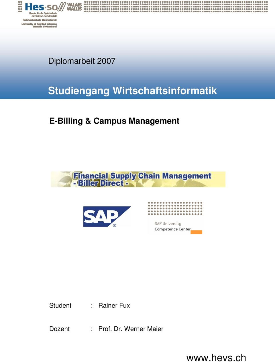 Campus Management Student : Rainer
