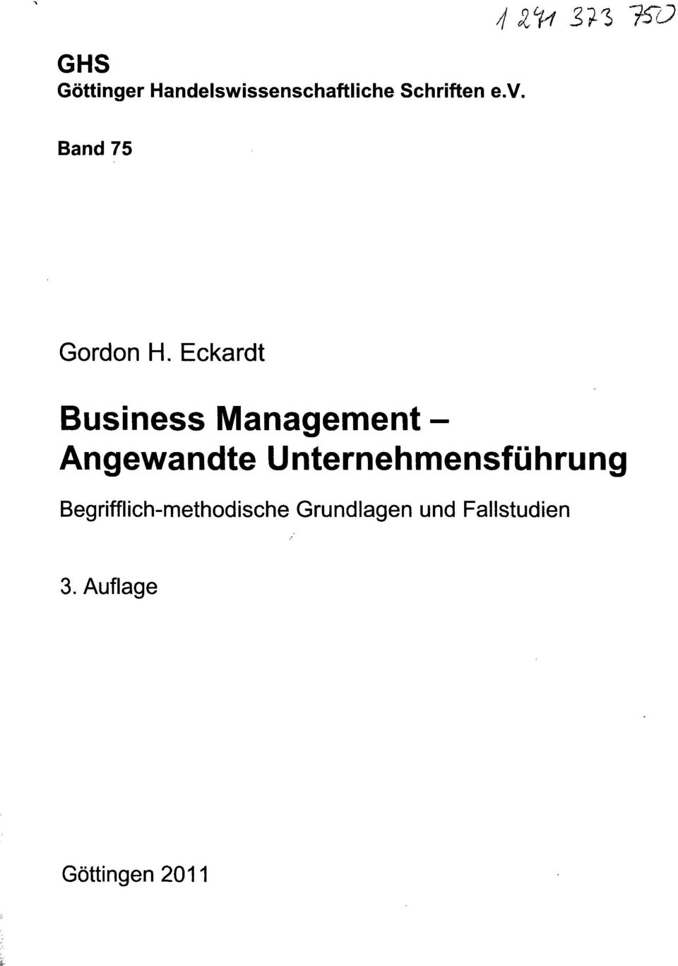 Eckardt Business Management - Angewandte
