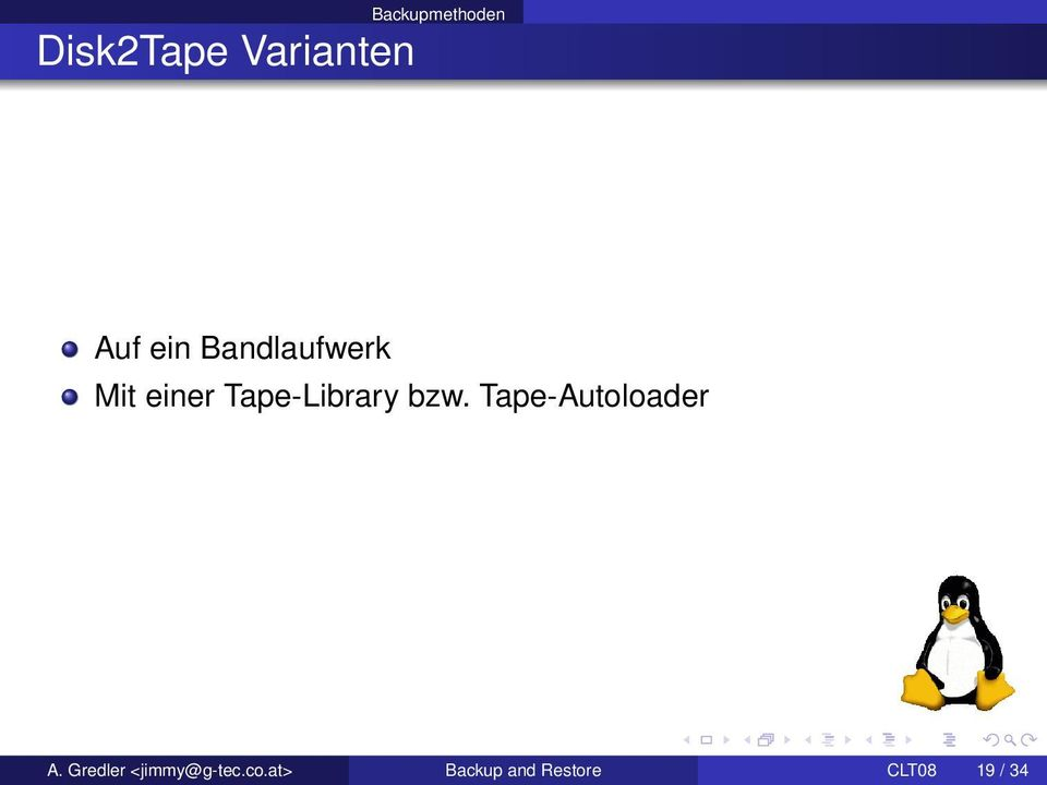 bzw. Tape-Autoloader A.