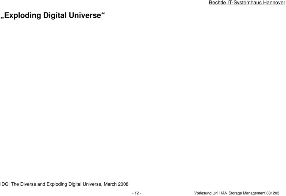 Universe, March 2008-12 -
