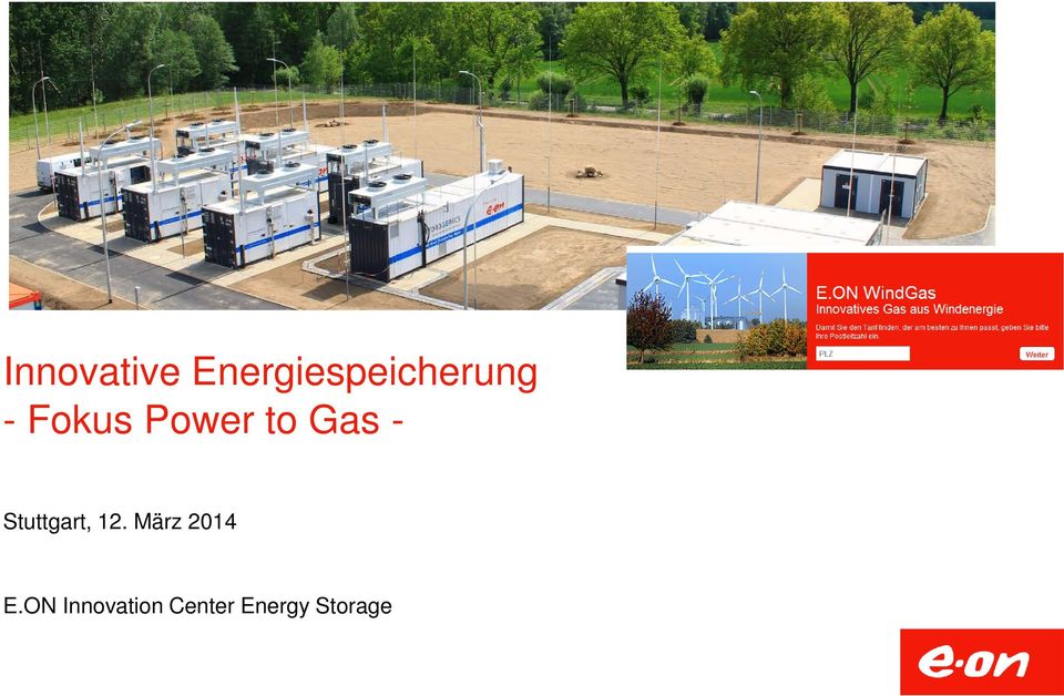 Power to Gas - Stuttgart, 12.