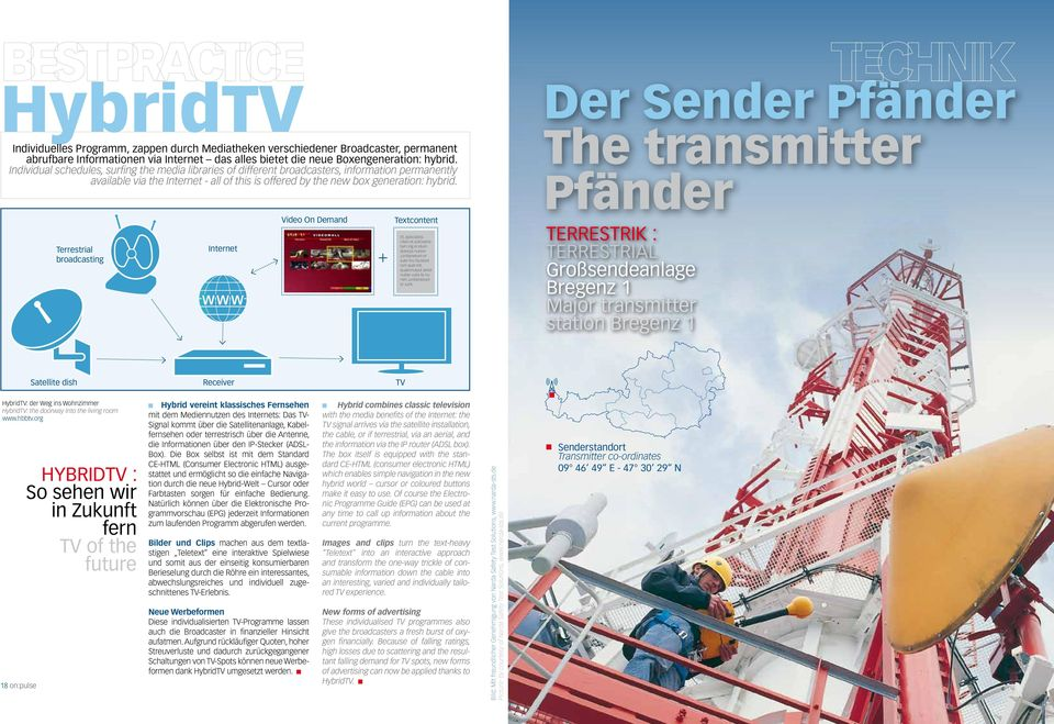 Der Sender Pfänder The transmitter Pfänder Terrestrial broadcasting Internet Video On Demand + Textcontent Et, quiscipissi.