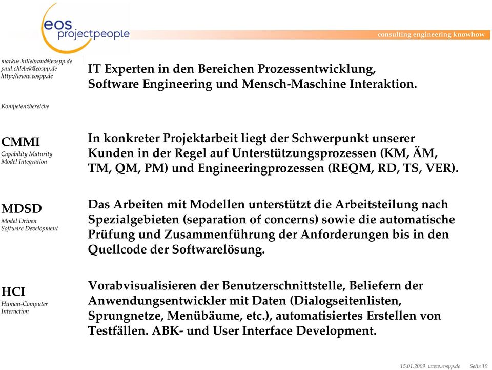 Engineeringprozessen (REQM, RD, TS, VER).