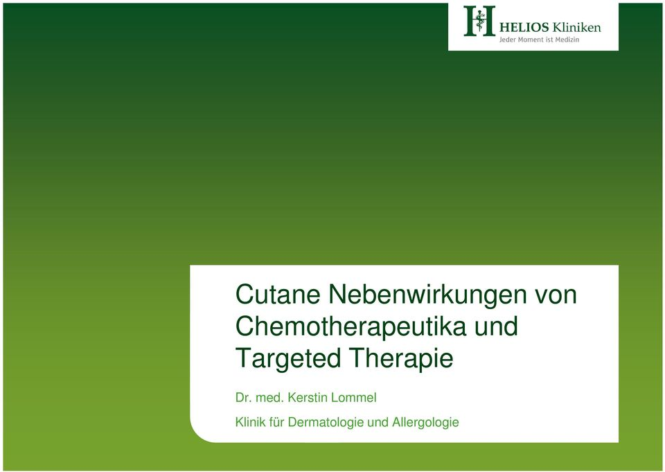 Therapie Dr. med.