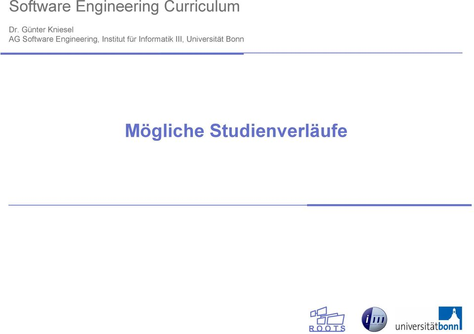 Engineering, Institut für Informatik