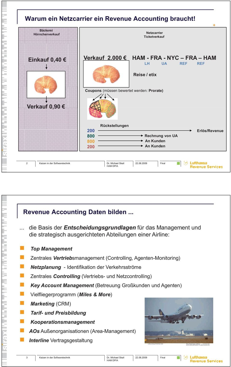 Revenue Accounting Daten bilden.