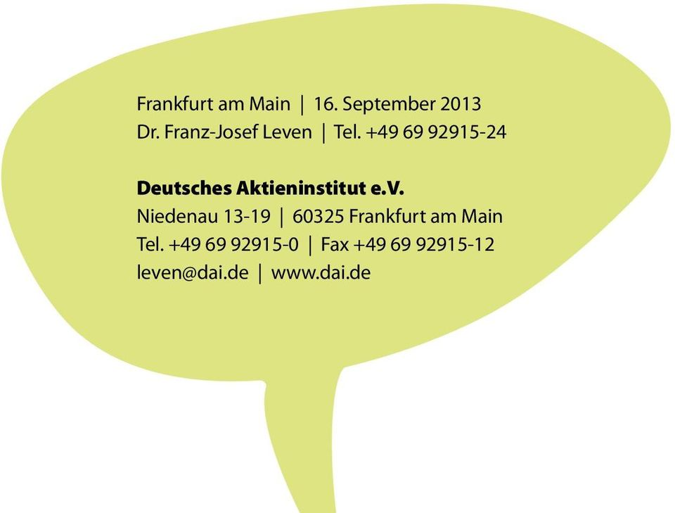 +49 69 92915-24 Deutsches Aktieninstitut e.v.