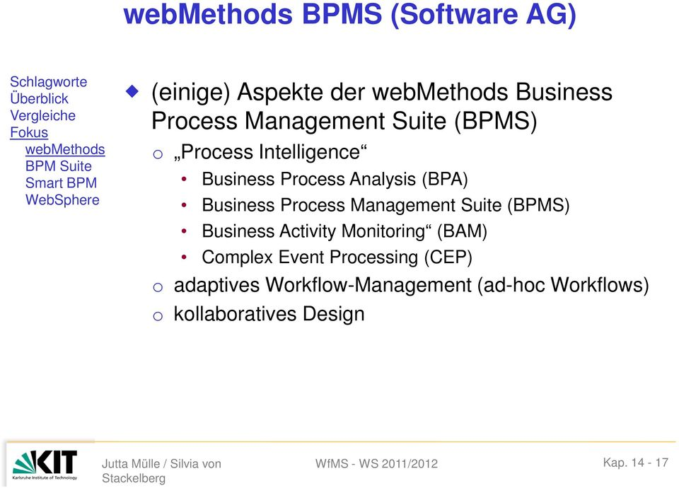 Business Prcess Analysis (BPA) Business Prcess Management Suite (BPMS) Business Activity Mnitring