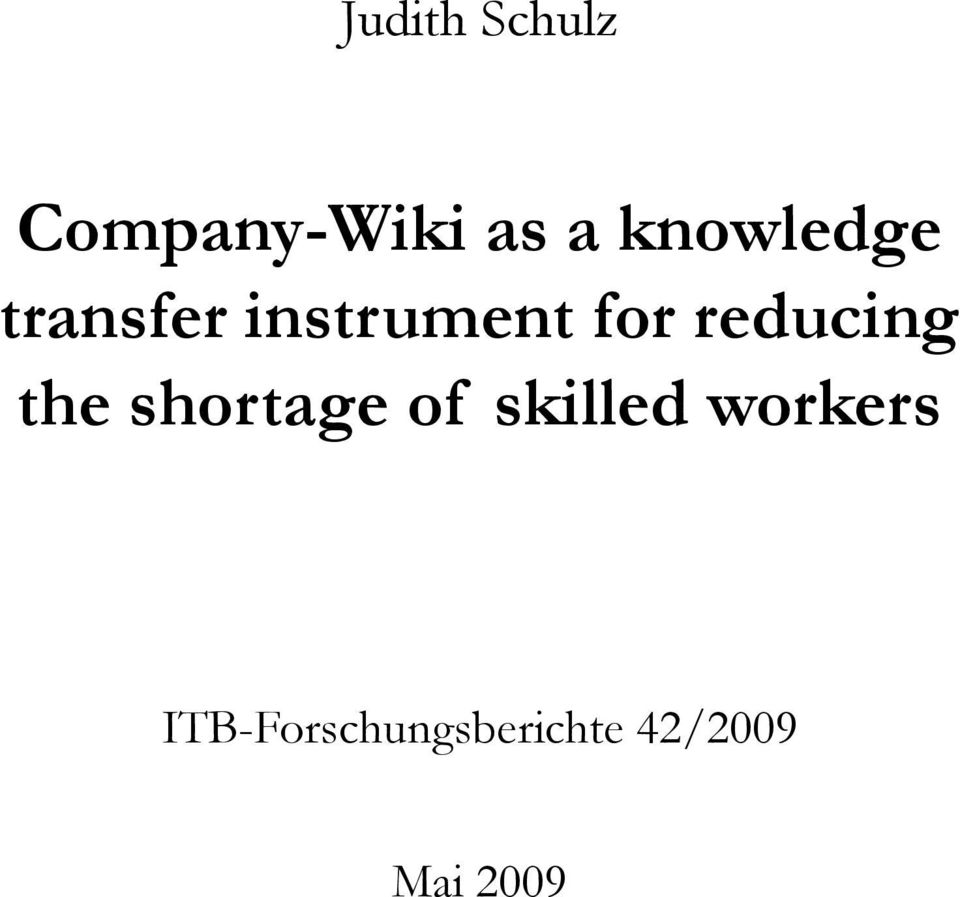 reducing the shortage of skilled