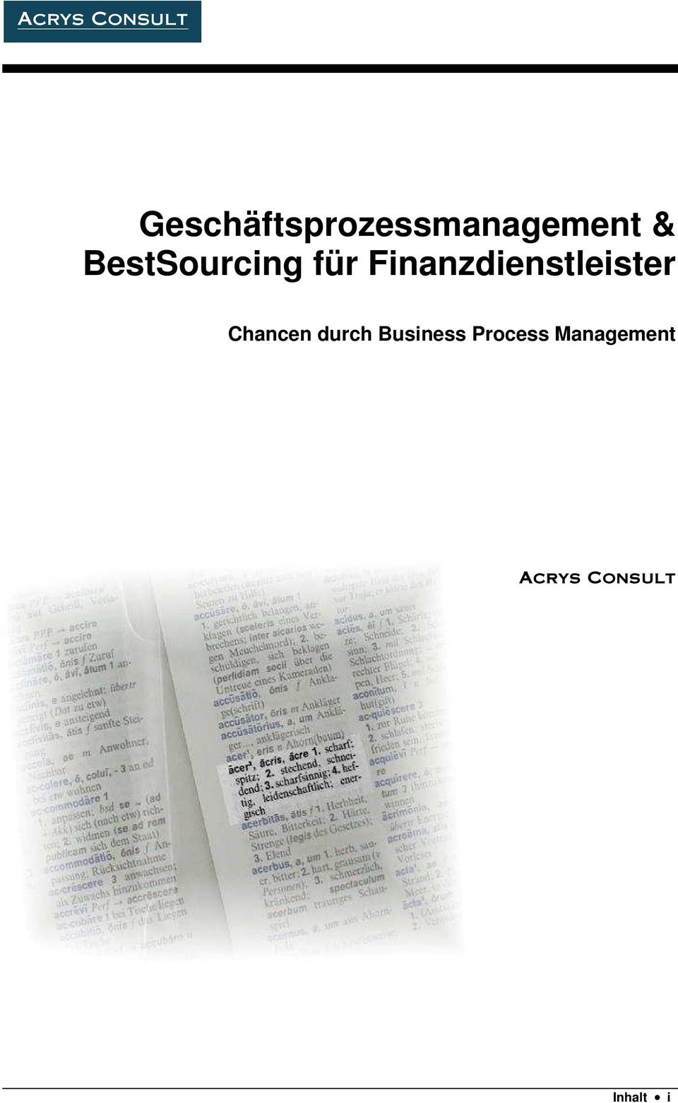 Chancen durch Business Process