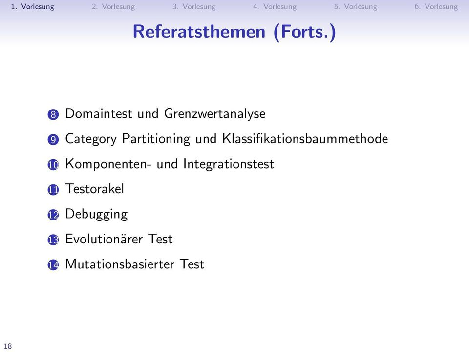 Partitioning und Klassifikationsbaummethode 10