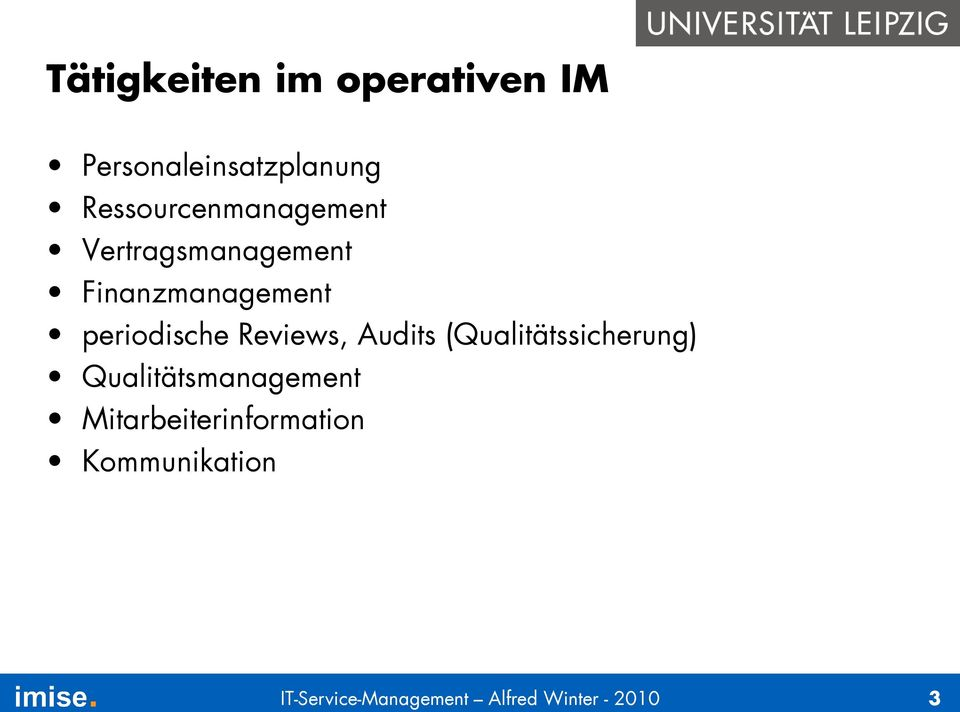 periodische Reviews, Audits (Qualitätssicherung)