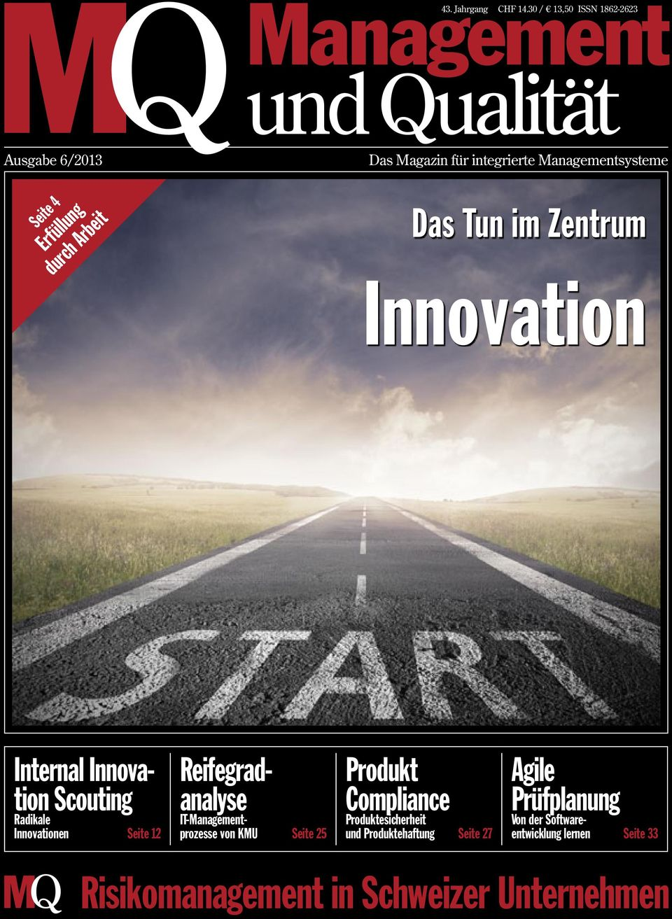 Tun im Zentrum Innovation Internal Innovation Scouting Radikale Innovationen Seite 12 Reifegradanalyse