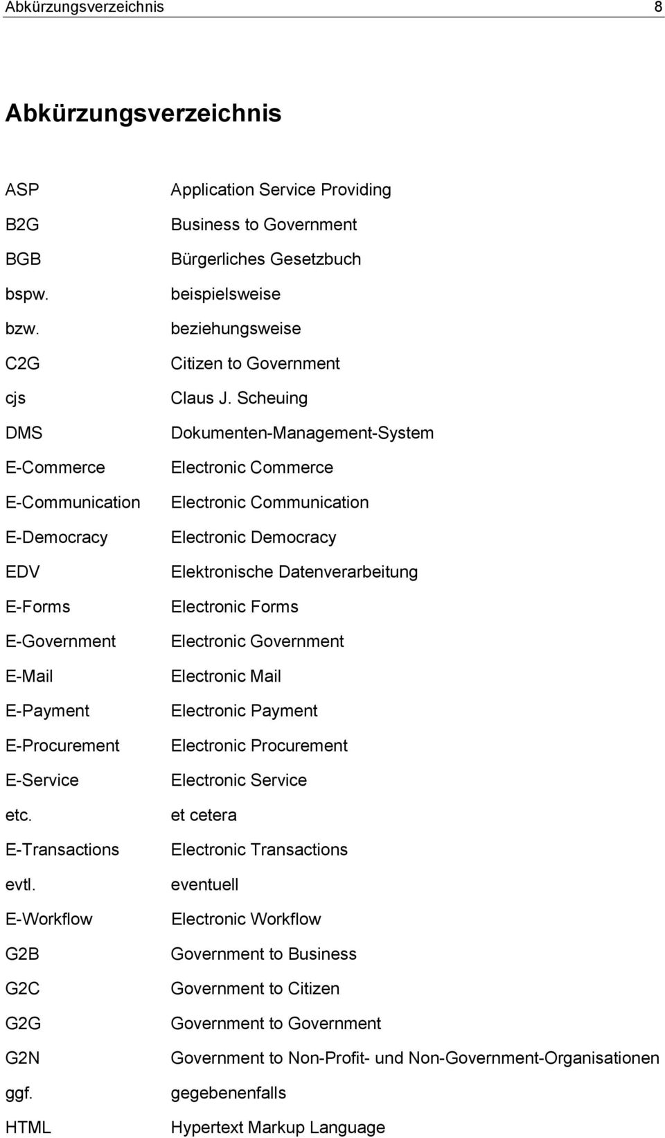 Scheuing Dokumenten-Management-System Electronic Commerce Electronic Communication Electronic Democracy Elektronische Datenverarbeitung Electronic Forms Electronic Government Electronic Mail
