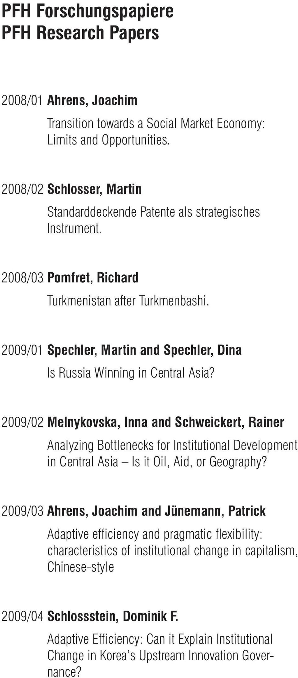 2009/01 Spechler, Martin and Spechler, Dina Is Russia Winning in Central Asia?