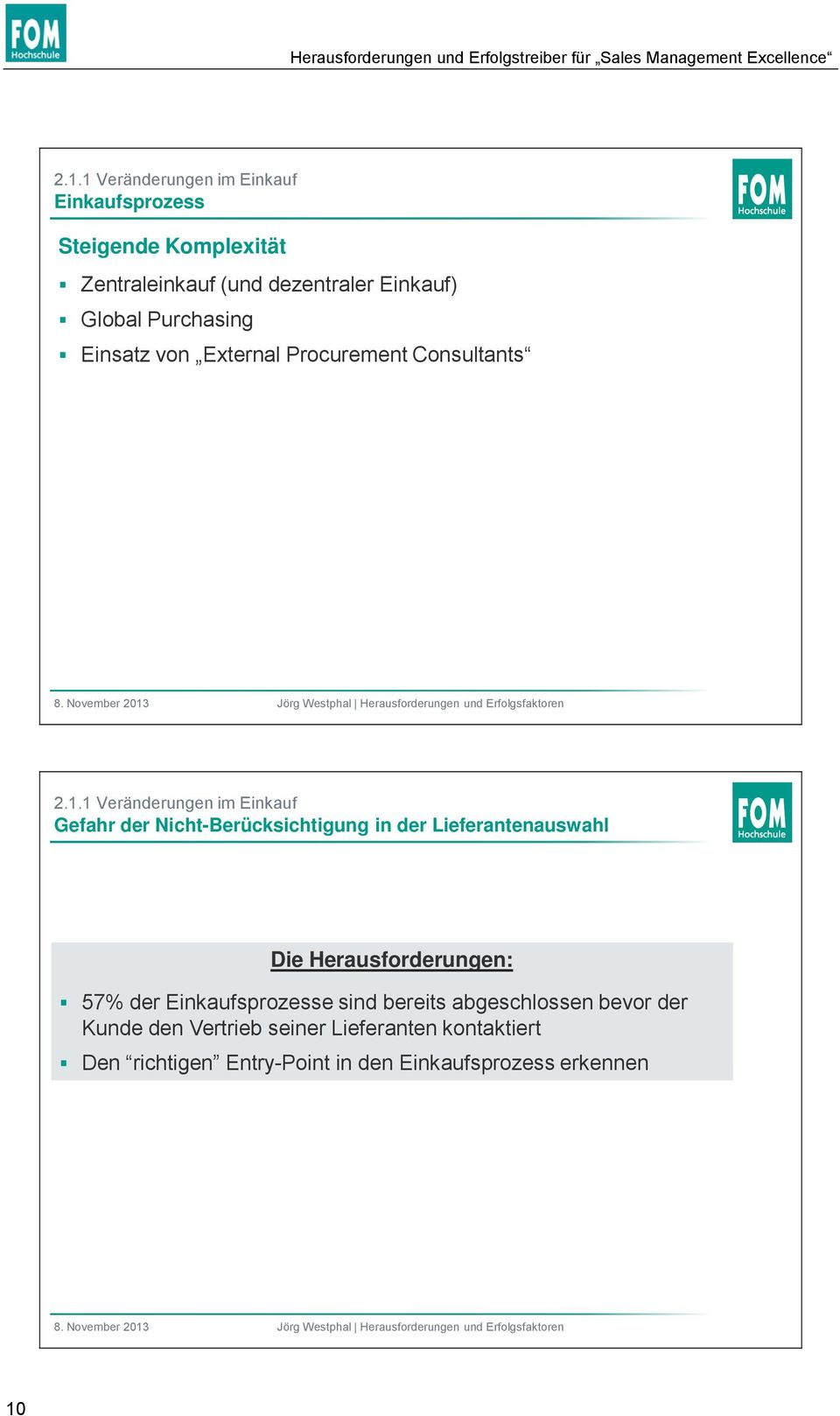 von External Procurement Consultants 2.1.