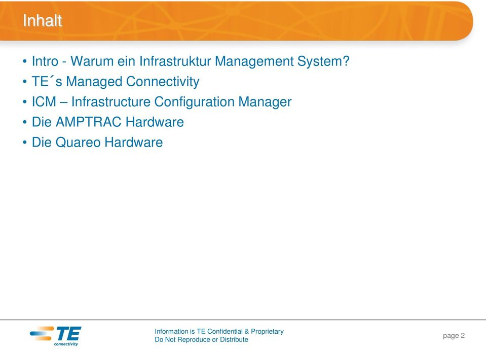 Manager Die AMPTRAC Hardware Die Quareo Hardware Information
