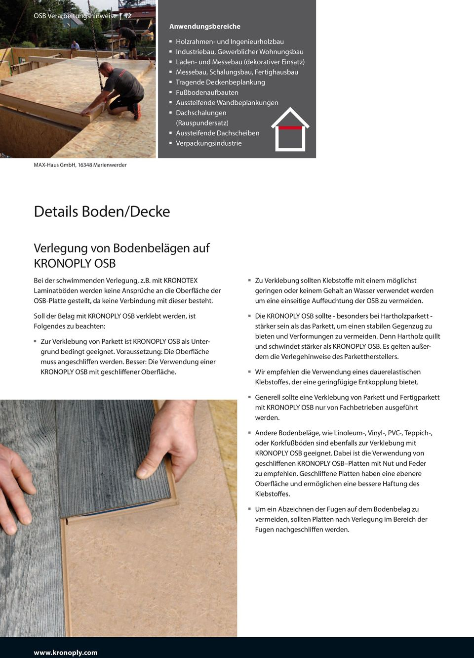osb verarbeitungshinweise nat rliche stabilit t kronoply gmbh deutschland pdf. Black Bedroom Furniture Sets. Home Design Ideas