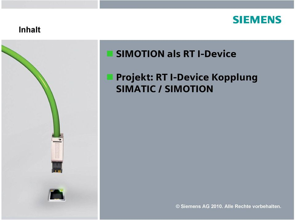 Kopplung SIMATIC / SIMOTION