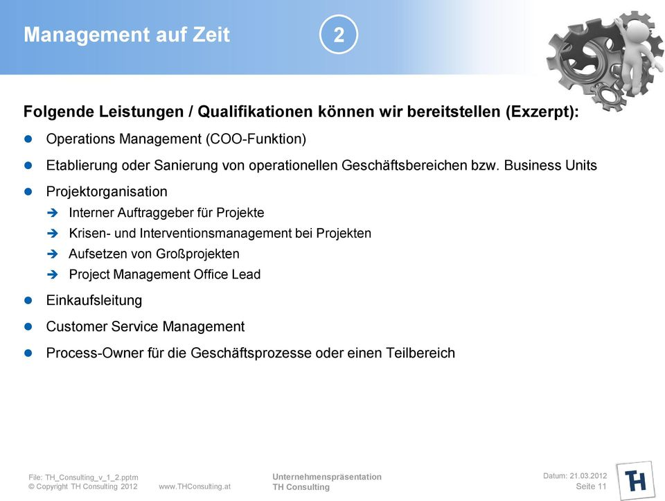 Business Units Projektorganisation Interner Auftraggeber für Projekte Krisen- und Interventionsmanagement bei Projekten