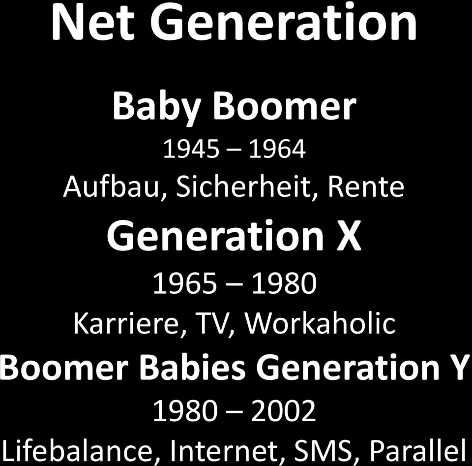 Karriere, TV, Workaholic Boomer Babies