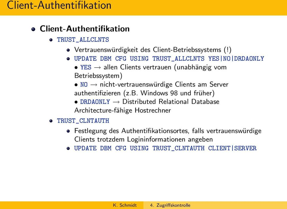 Clients am Server authentifizieren (z.b.
