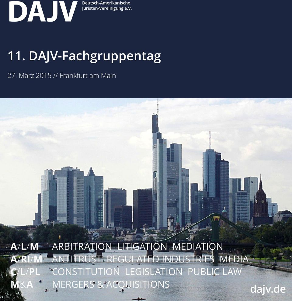 März 2015 // Frankfurt am Main A/L/M ARBITRATION LITIGATION
