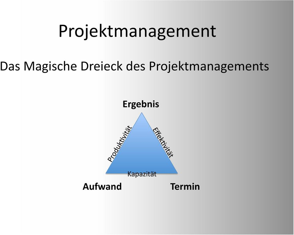 Projektmanagements