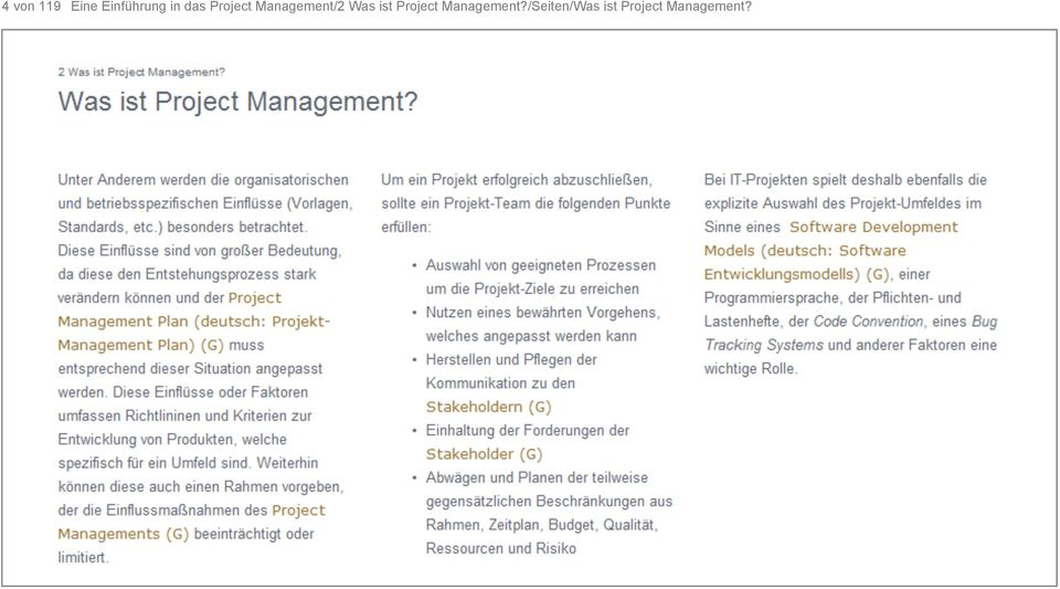 ist Project Management?