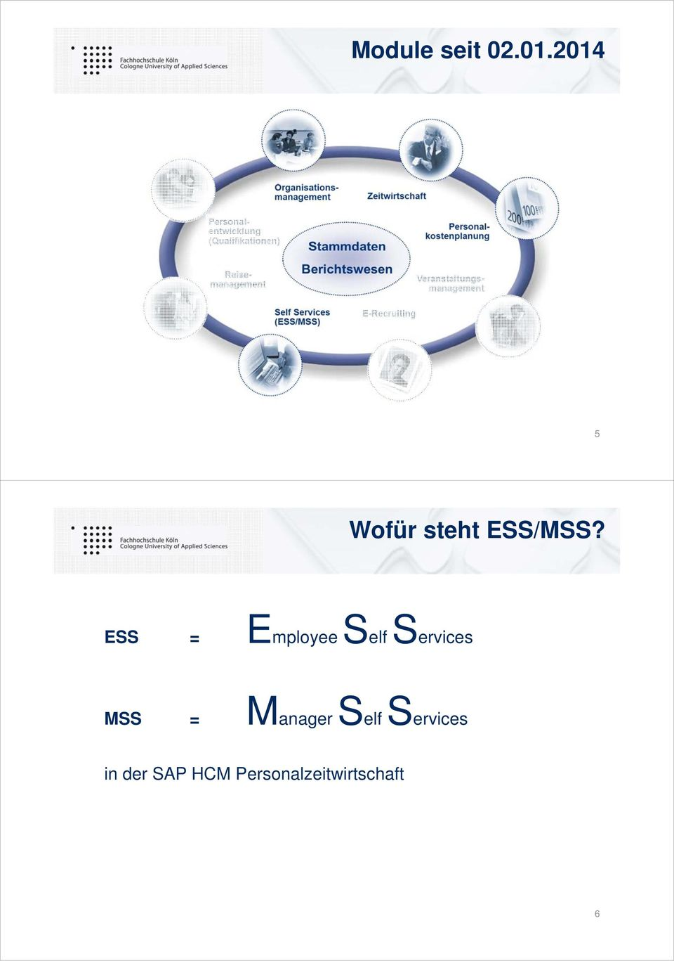 ESS = Employee Self Services MSS =