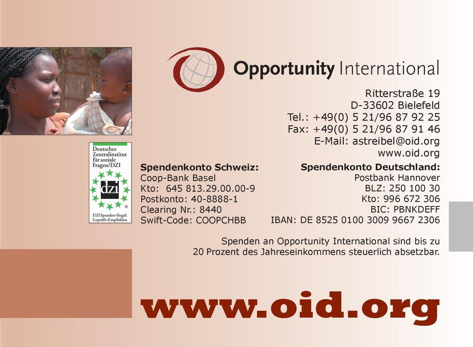 : +49(0) 5 21/96 87 92 25 Fax: +49(0) 5 21/96 87 91 46 E-Mail: astreibel@oid.