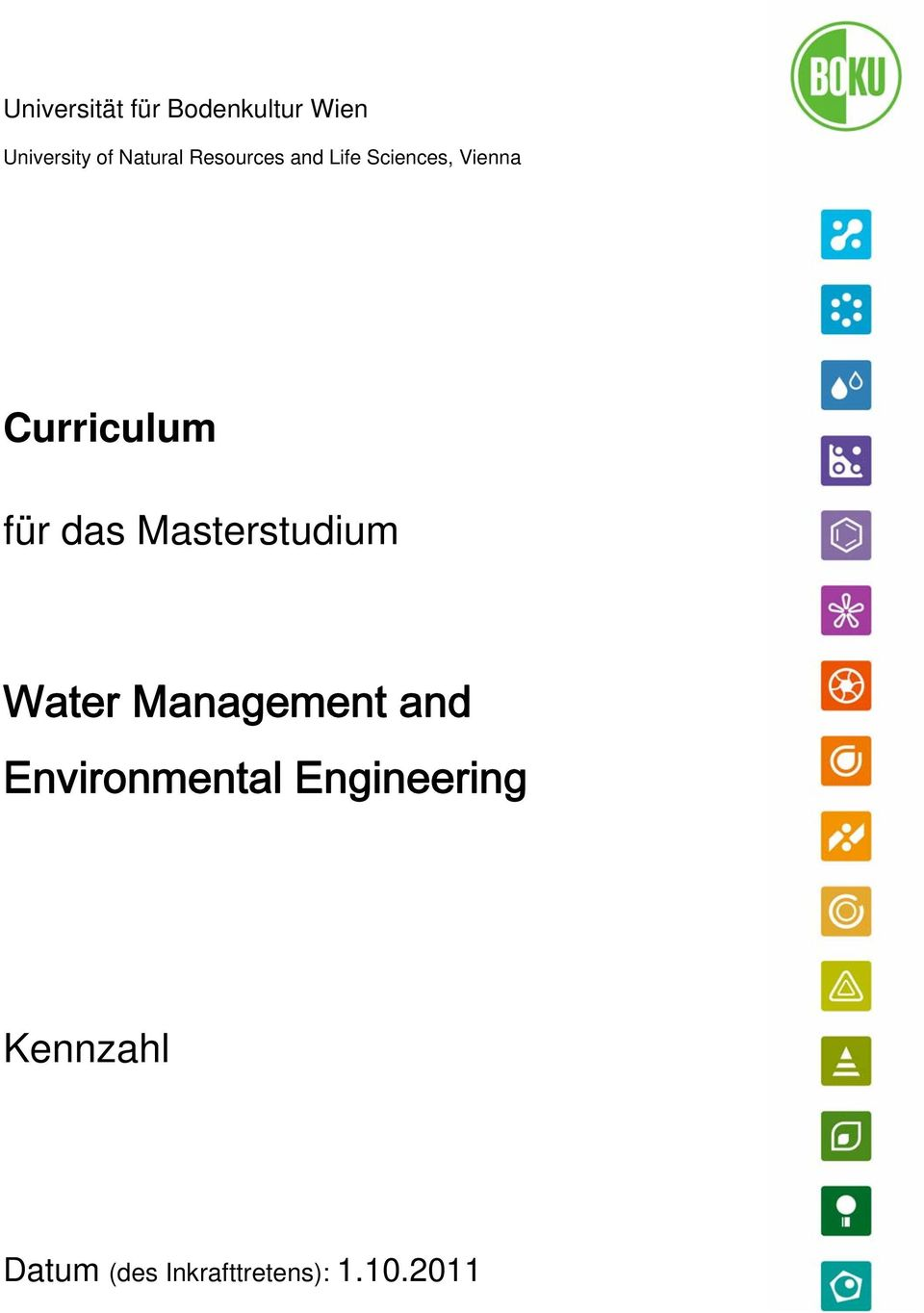 Masterstudium Water Management and Environmental