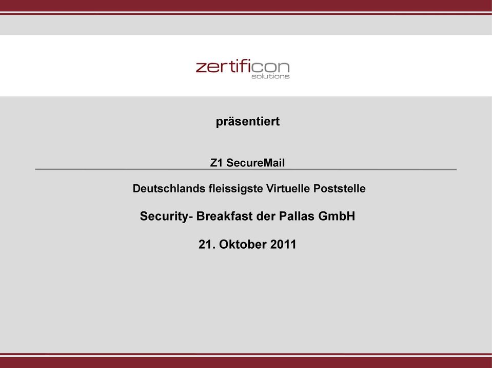Virtuelle Poststelle Security-