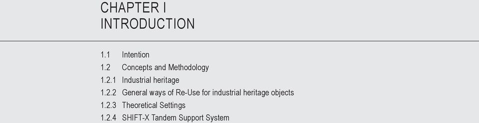 2.2 General ways of Re-Use for industrial heritage