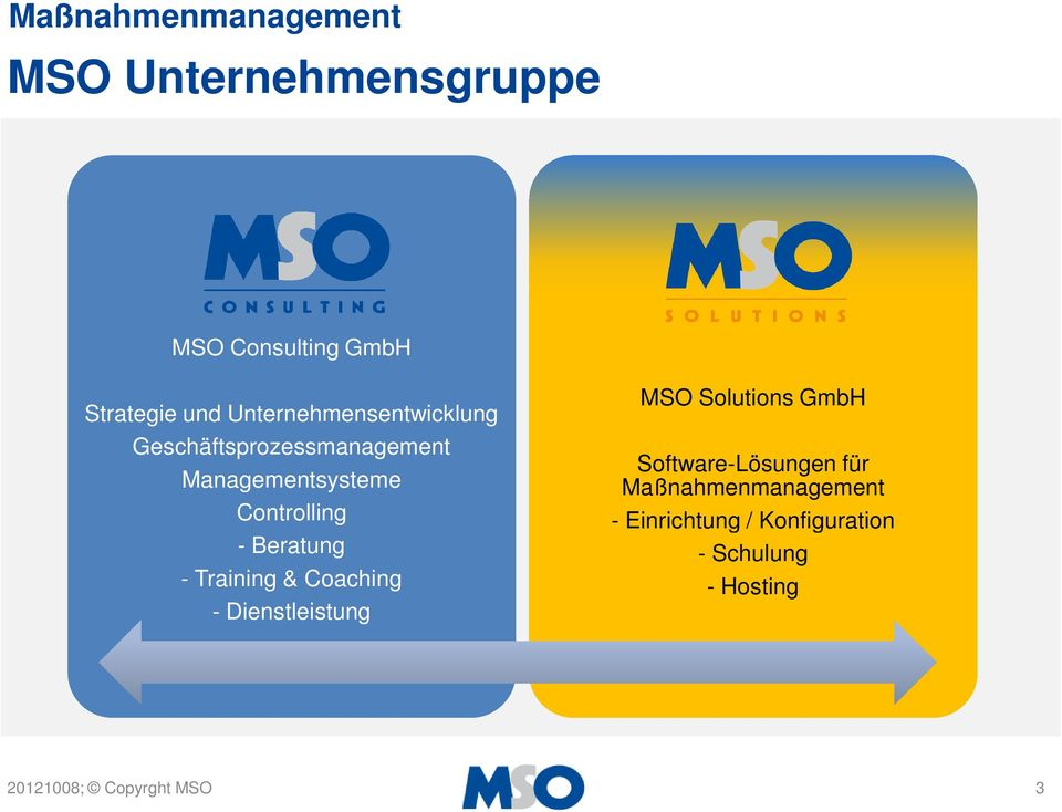 Controlling - Beratung - Training & Coaching - Dienstleistung MSO Solutions